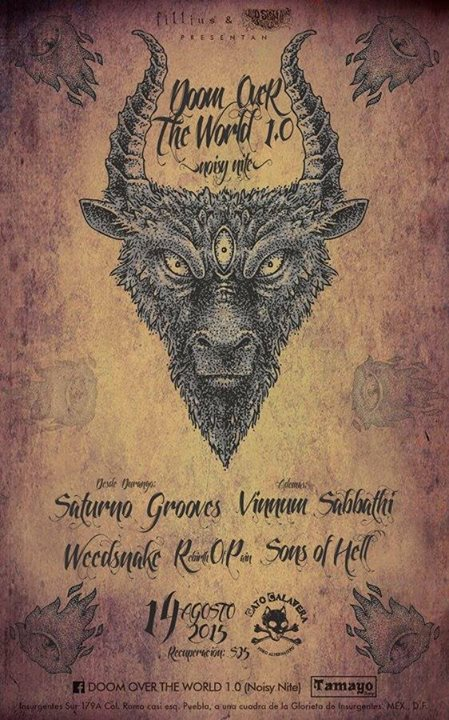 Concert Report : Vinnum Sabbathi, Weedsnake, Saturno Grooves,  Rebirth Of Pain & Sons Of Hell