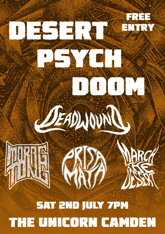 Concert Report : Deadwound, Prisa Mata, Morag Tong and March the Desert at the Camden Unicorn – 07/02/16